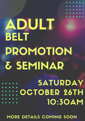Fall 2019- Adult Promotion & Seminar