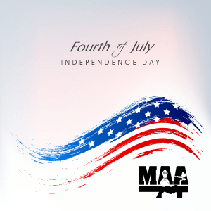 Have a safe and enjoyable Fourth of July Holiday!