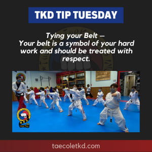 TKD Tip Tuesday: How to tie my belt.