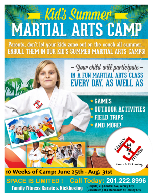 in Jersey City - Family Fitness Karate & Kickboxing - Jersey City Karate Summer Camp!