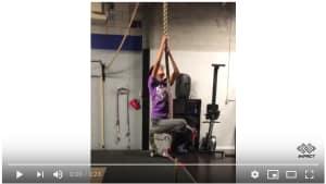Personal Training in Brampton - Impact Fitness - Joey's First Rope Climb!