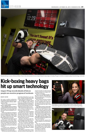Kickboxing Heavy Bags Hit Up Smart Technology