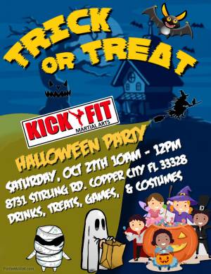 in Cooper City - Kick Fit Martial Arts - Kickfit Halloween Costume Party - Cooper City
