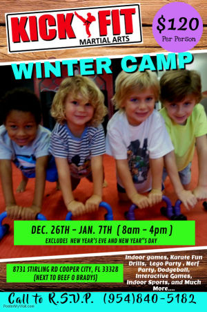 Kickfit Winter Camp - Cooper City/Davie/Weston kids invited