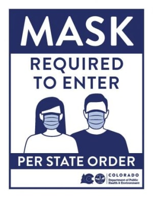 Masks required for entry!