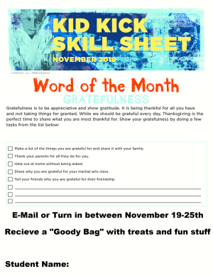 November Word of the Month