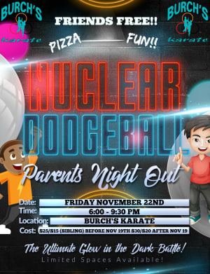 PARENT'S NIGHT OUT COMING NOVEMBER 22ND