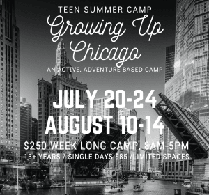 POW! Teen Summer Camp Brochure- Growing Up Chicago