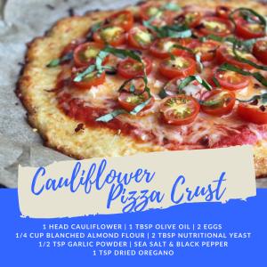 Recipe of the Week: Cauliflower Pizza Crust
