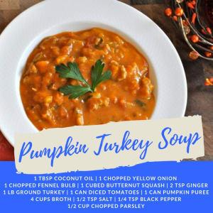Recipe of the Week: Pumpkin Turkey Soup