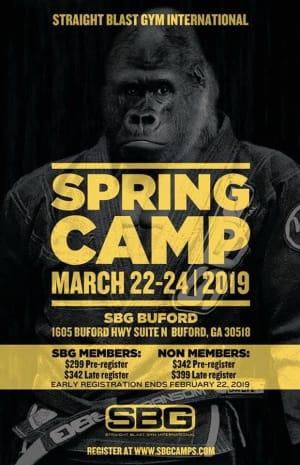 SBG Martial Arts Spring Camp 2019
