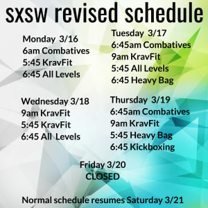 SXSW Revised Schedule