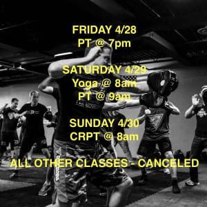 in Troy - Krav Maga Detroit - Schedule for this Weekend 4/28 - 30
