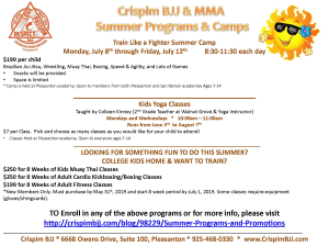 Summer Programs and Promotions
