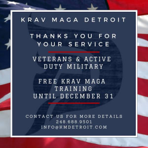 in Troy - Krav Maga Detroit - Thank You Veterans