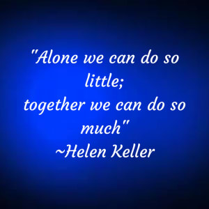 Together we can...