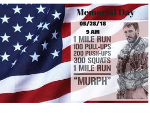 "Memorial Day ""Murph"" at RARE CrossFit Fredericksburg, Spotsylvania, and Stafford's premier CrossFit Facility!"