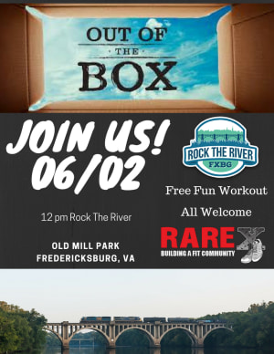 RARE EXPERIENCE in Fredericksburg - RARE CrossFit - Two weeks from now Rock The River - RARE Crossfit Fredericksburg, Spotsylvania, and Stafford's premier CrossFit Facility!