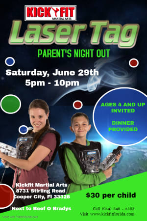 We Got Laser Tag for Cooper City Kids!!
