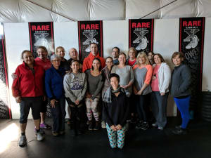 Restorative Yoga with Bobbi of Gray Dog Yoga at RARE CrossFit, Fredericksburg, Spotsylvania, and Stafford's premier CrossFit Facility!