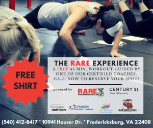 FREE RARE Experience at RARE CrossFit Fredericksburg, Spotsylvania, and Stafford's premier CrossFit Facility!
