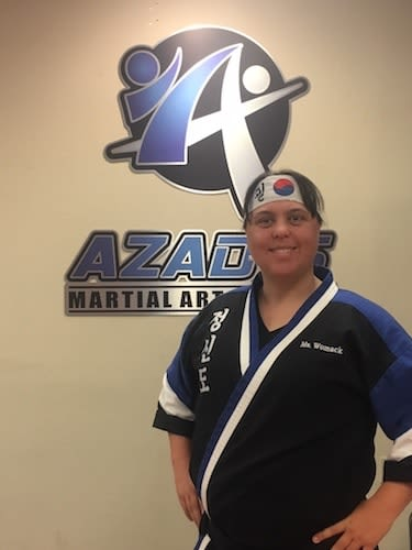 Ms. Womack in Chico - Azad's Martial Arts Center