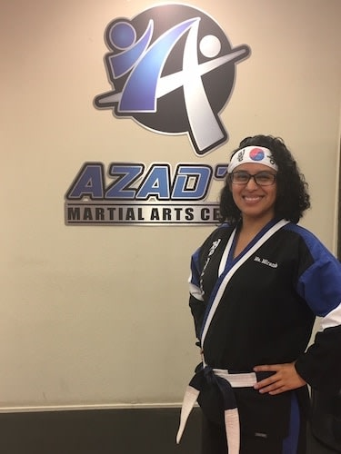 Ms. Miranda in Chico - Azad's Martial Arts Center