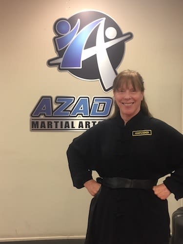 Ms. Scheiler in Chico - Azad's Martial Arts Center