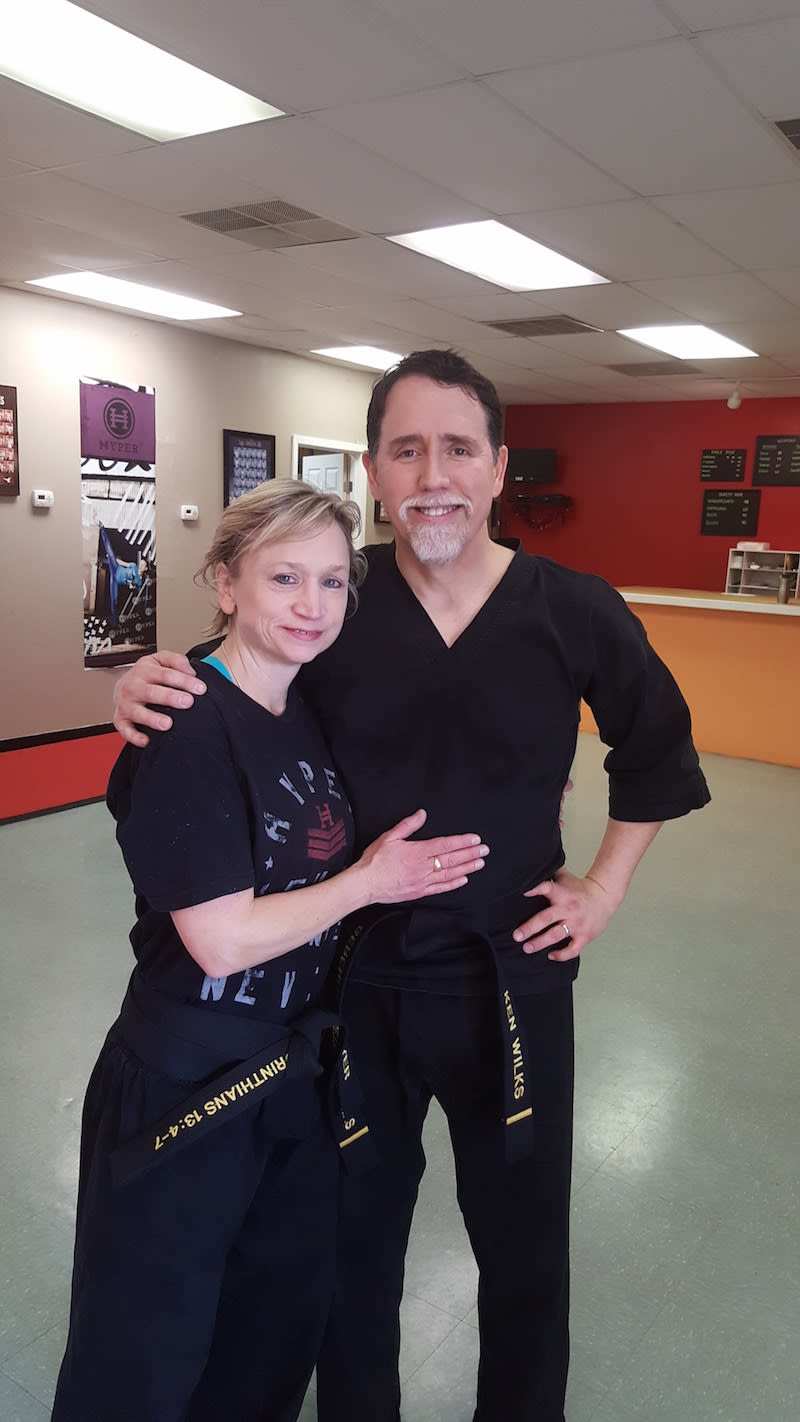 The Valashinas-Wilks Family (1st degree black belts), Eagle Martial Arts Testimonials