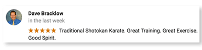 Dave B., Shotokan Karate of Arizona Testimonials