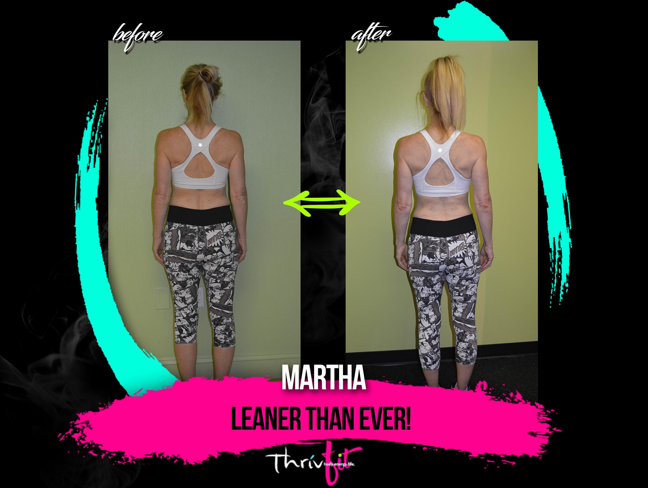 Martha B, ThrivFIT Testimonials