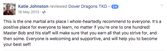 Katie Johnston, Dover Dragons Testimonials