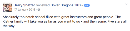 Jerry Shaffer, Dover Dragons Testimonials
