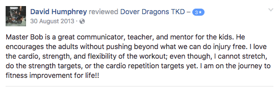 David Humphrey, Dover Dragons Testimonials