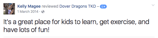 Kelly Magee , Dover Dragons Testimonials