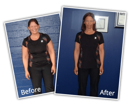 "Susan Viglione | Lost 50 lbs | lost 7.25"" off her waist 