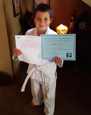 Timothy, Three Dragons Martial Arts Academy Testimonials