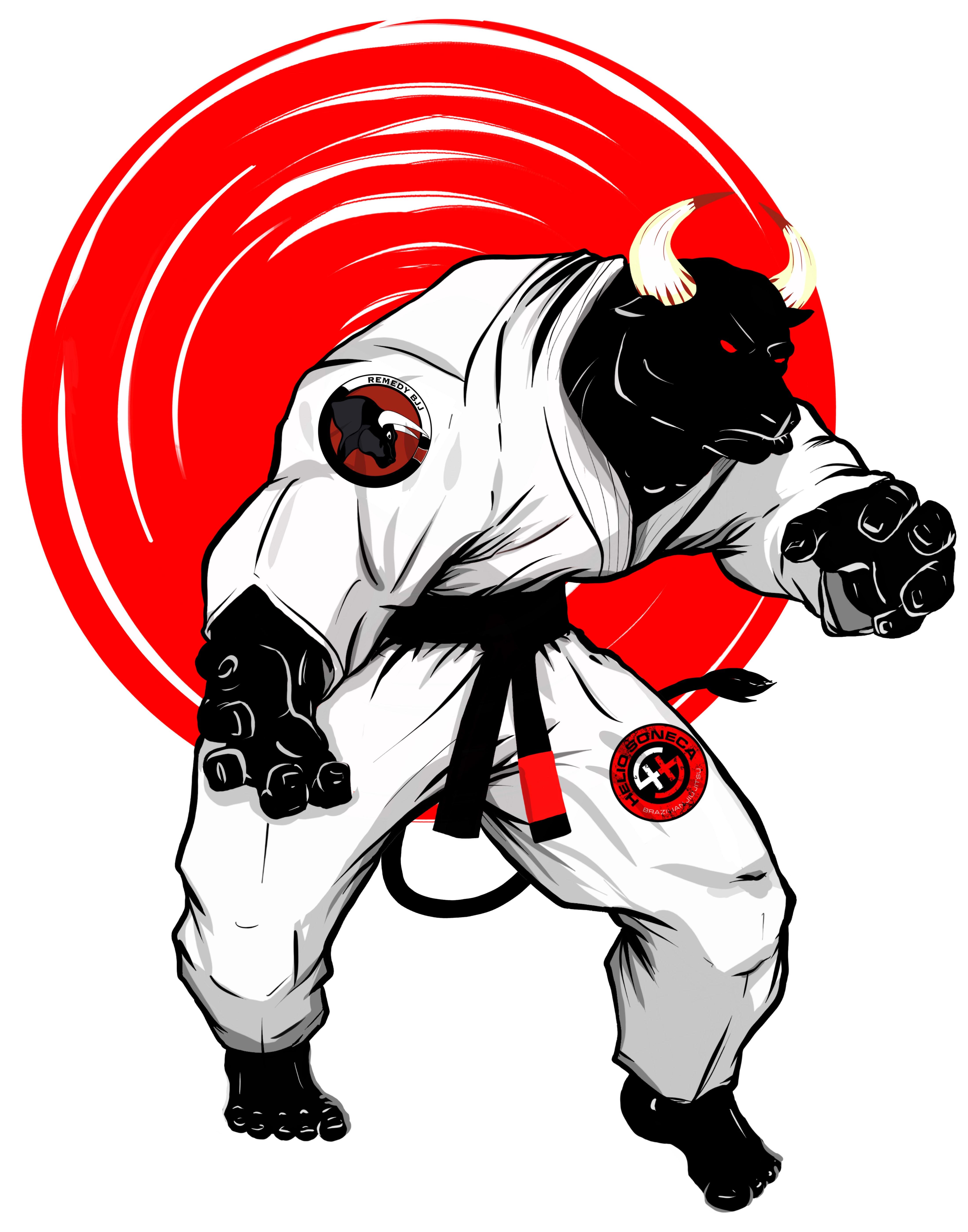 вечером мою крутая картинка бойцовского пса в кимоно для
