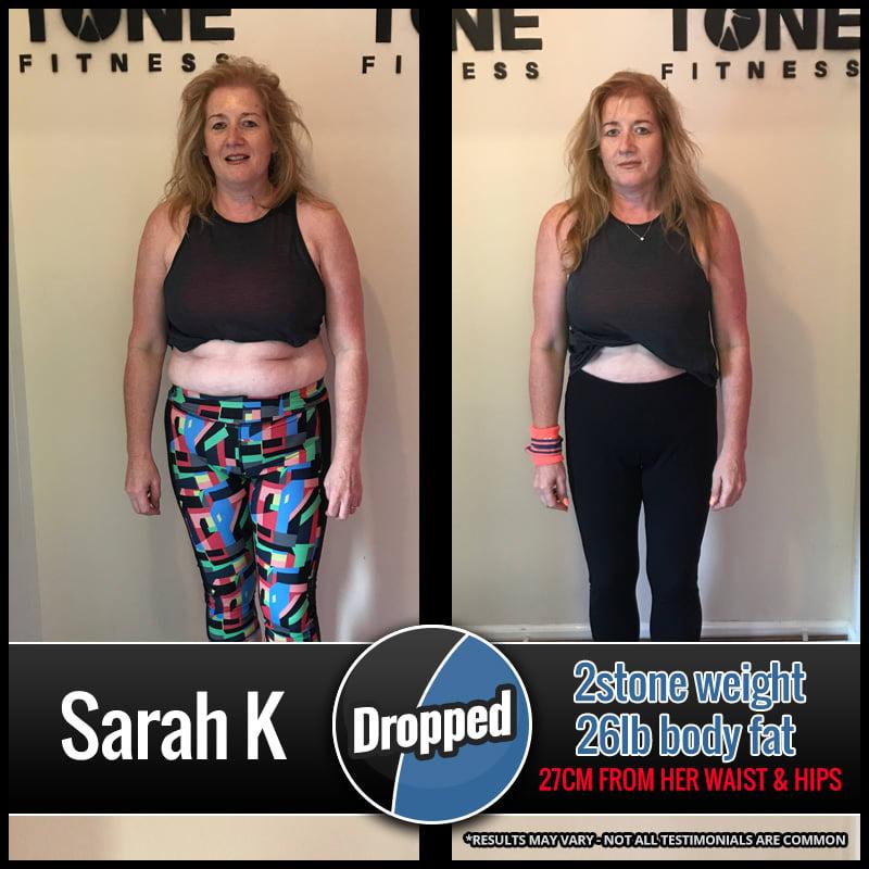 Sarah K., Tone Fitness testimonials