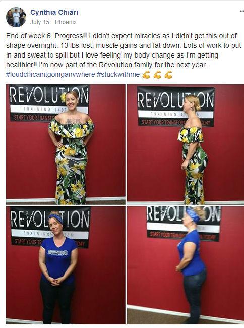 Cynthia Chiari, Revolution Training System Testimonials