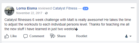 Catalyst Fitness Lorna's 6 Week Challenge