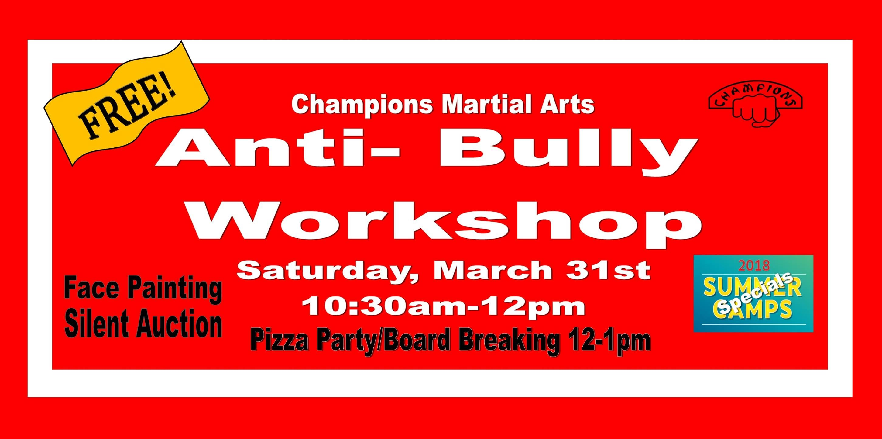 Anti-Bully Workshop in Sewell - Champions Martial Arts