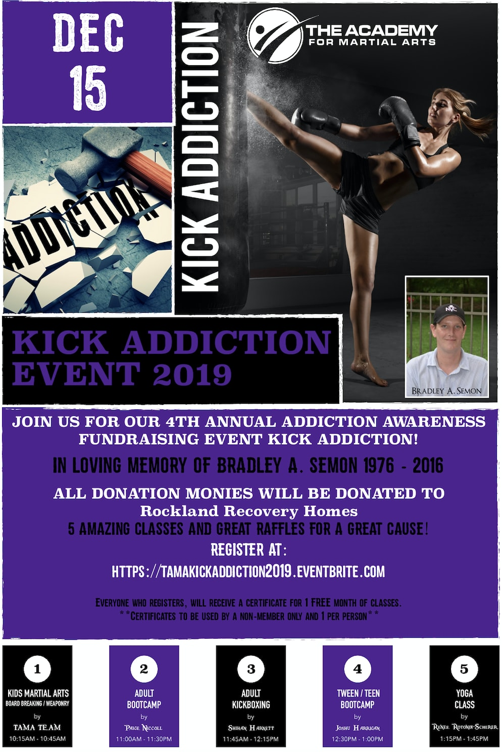 KICK ADDICTION EVENT 2019 in Orangeburg