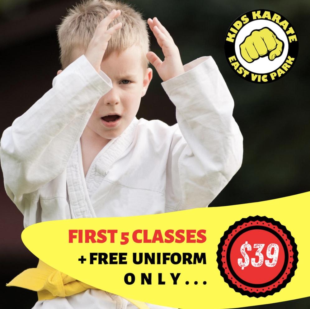 KIDS KARATE - BEGINNERS CLASSES STARTING NOW in East Victoria Park