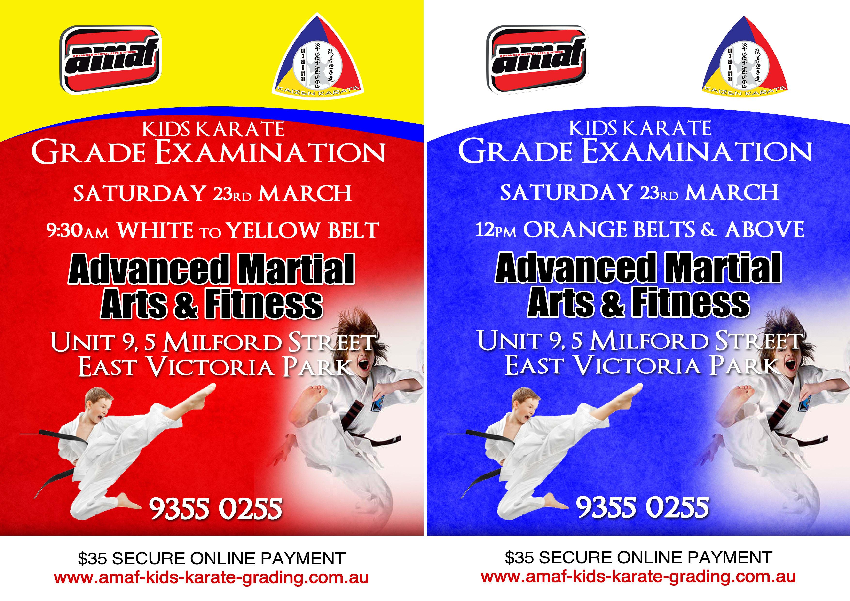 KIDS KARATE GRADE EXAMINATION in East Victoria Park - Advanced Martial Arts & Fitness