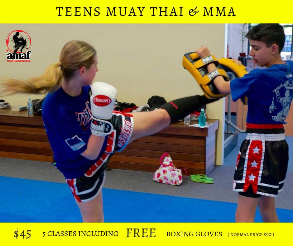 TEENS MUAY THAI & MMA CLASSES in East Victoria Park