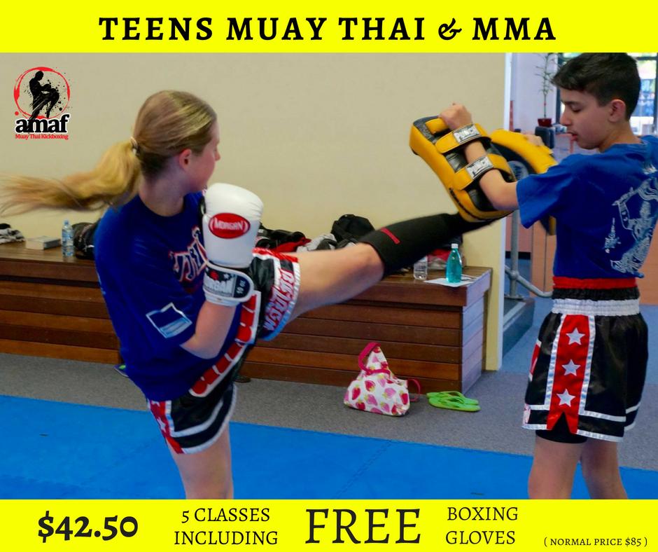 TEENS MUAY THAI & MMA CLASSES in East Victoria Park - Advanced Martial Arts & Fitness