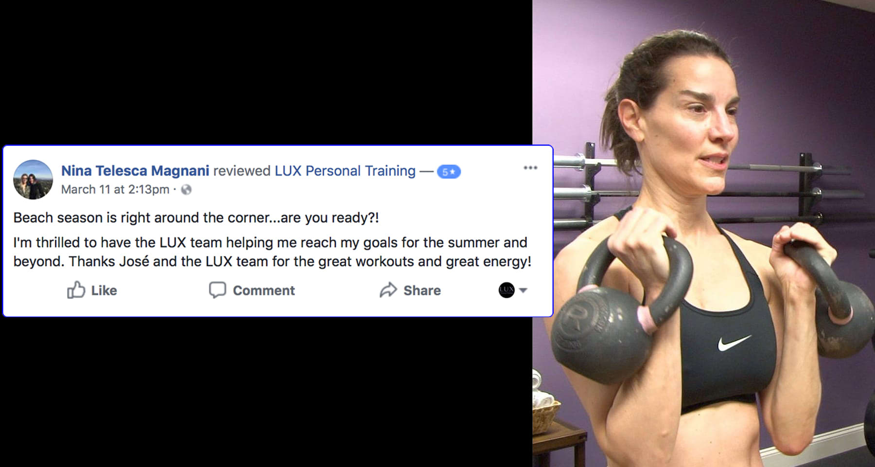 Nina, LUX Personal Training Testimonials