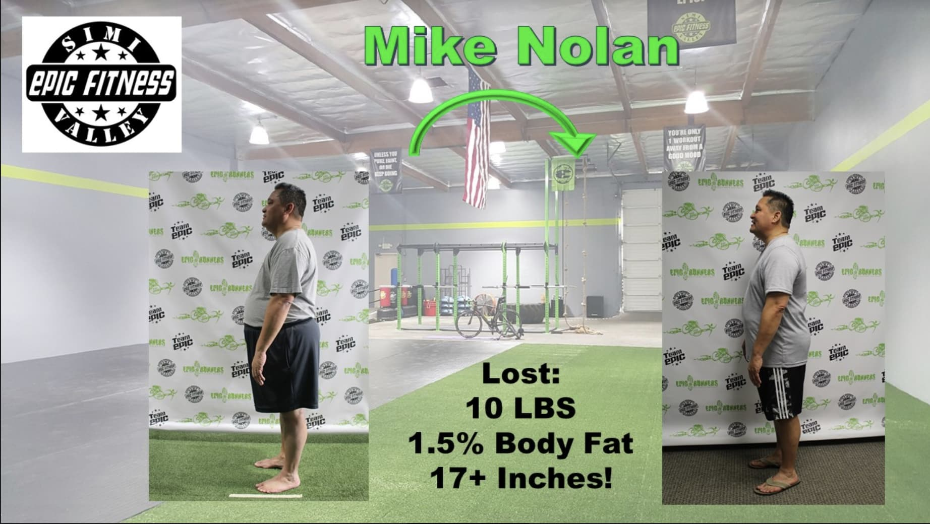 Mike Nolan, Epic Fitness Testimonials