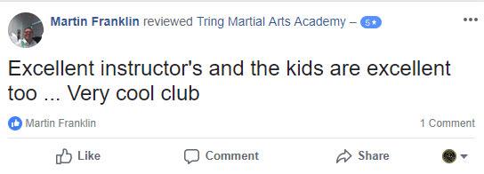 Martin Franklin, Tring Martial Arts Testimonials
